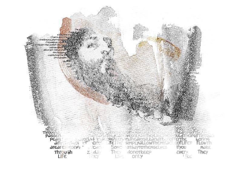 Porträt des klugen Mannes lizenzfreie stockfotos