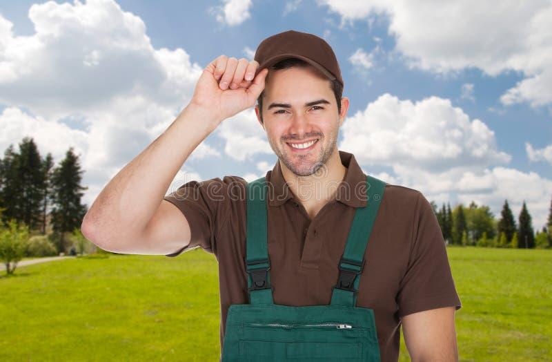 Porträt des männlichen Gärtners stockfoto