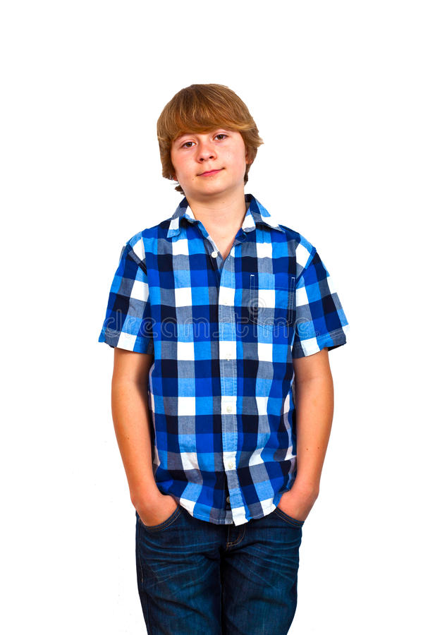 Porträt des netten Jugendlichen stockbild