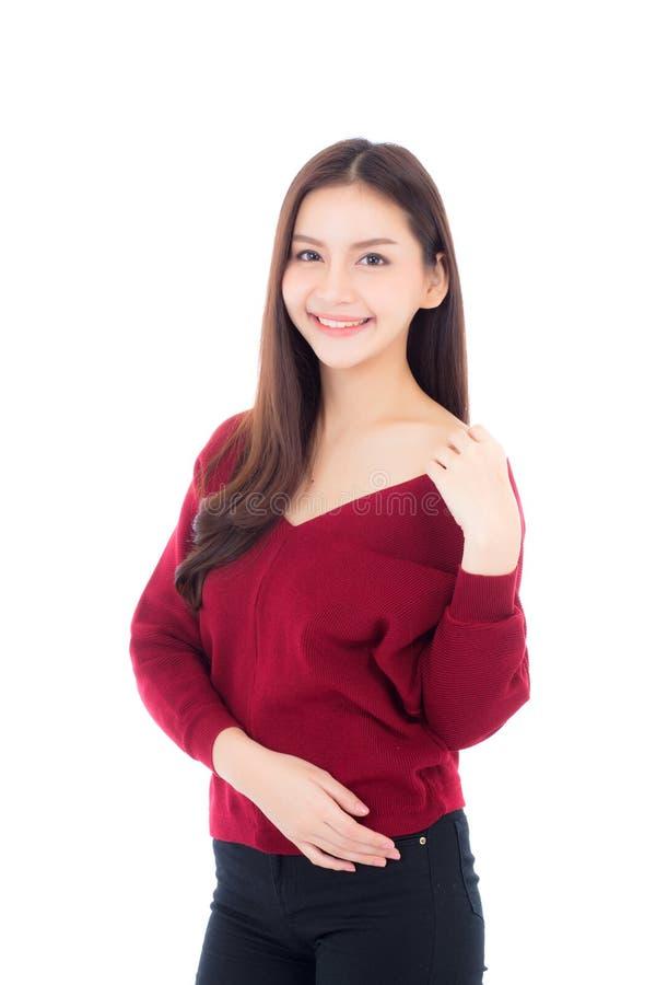 Porträt des schönen asiatischen Frauenmakes-up von Kosmetik lizenzfreie stockfotos