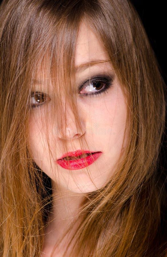 Porträt des schönen Brunette lizenzfreie stockfotografie