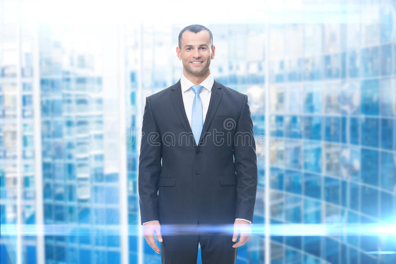 Porträt des smileygeschäftsmannes stockbilder