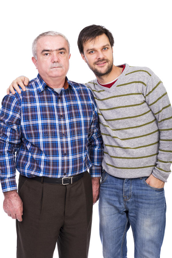 Porträt des Vaters und des Sohns stockfoto