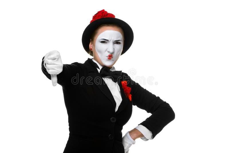 Porträt des Verurteilungspantomimen stockfoto