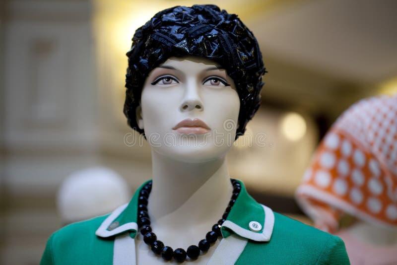 Porträt des weiblichen Mannequins stockbild