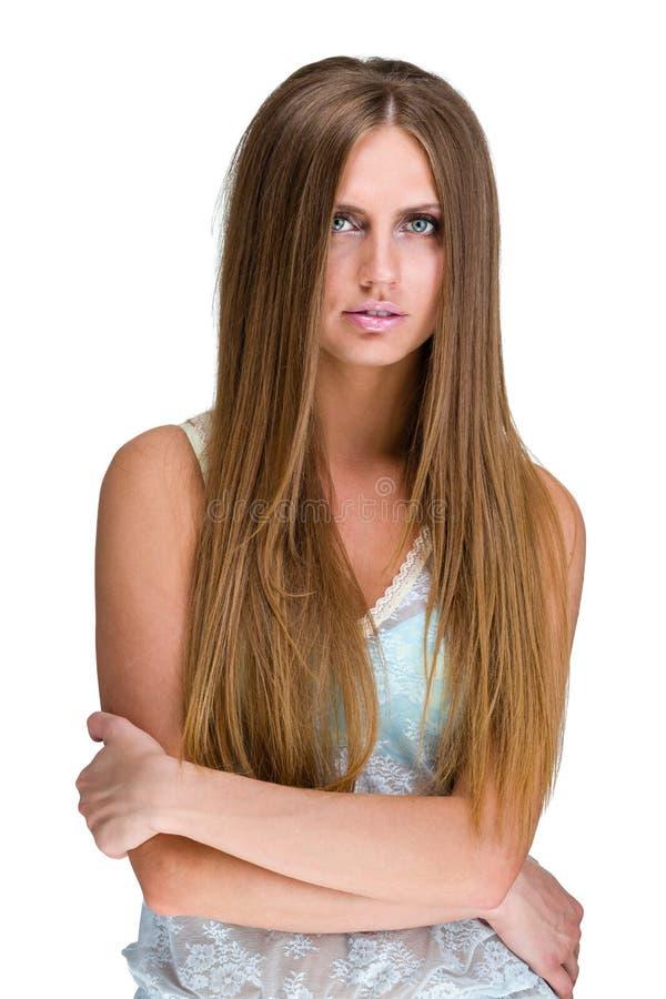 Porträt einer attraktiven modernen jungen Frau stockbild