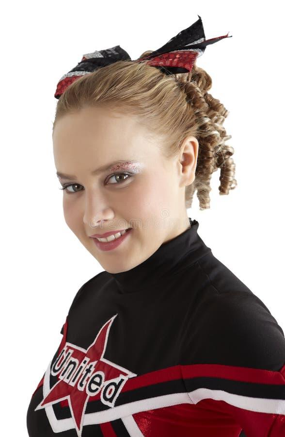 Porträt einer Cheerleader lizenzfreies stockfoto