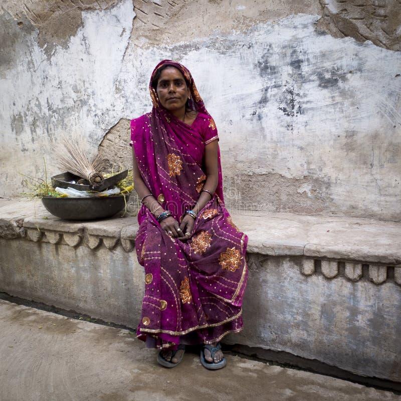 Porträt einer Dalit-Frau. lizenzfreie stockfotografie
