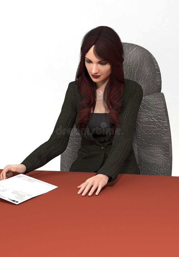 Porträt einer Frau mit dem langen roten Haar lizenzfreie stockbilder