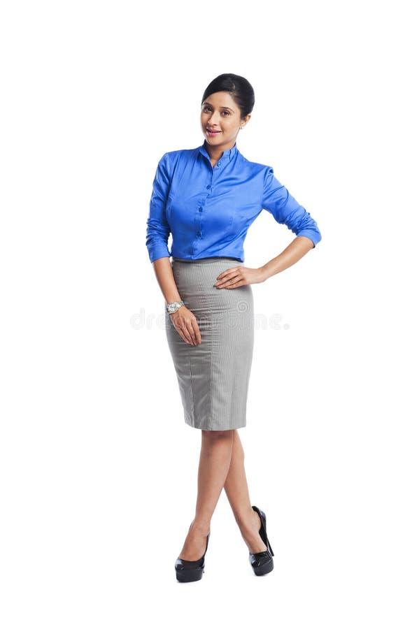 Porträt einer Geschäftsfrau stockfotografie