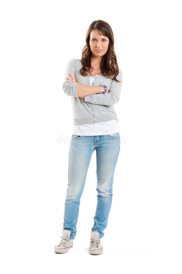 Porträt einer glücklichen Frau lizenzfreie stockbilder