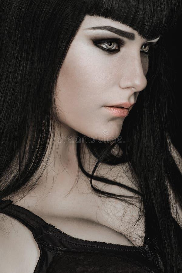 Porträt einer gotischen Frau lizenzfreie stockfotos