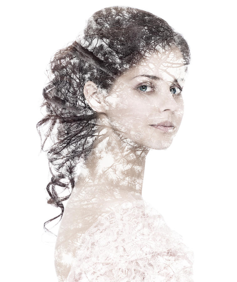 Porträt einer jungen Frau stockfoto