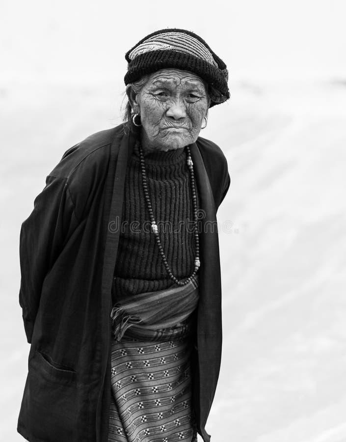 Porträt einer nepalesischen Frau stockfoto