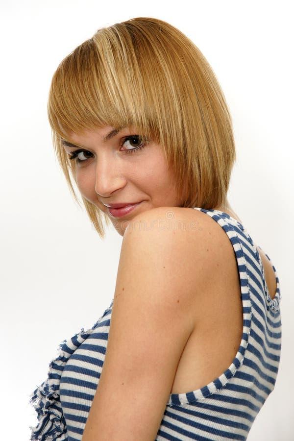 Porträt einer schönen jungen Blondine stockfoto