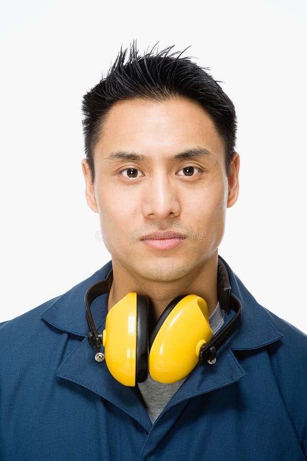 Porträt eines Arbeiters lizenzfreie stockfotografie