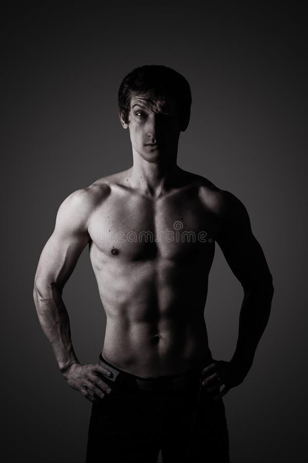 Porträt eines Athleten lizenzfreie stockfotos