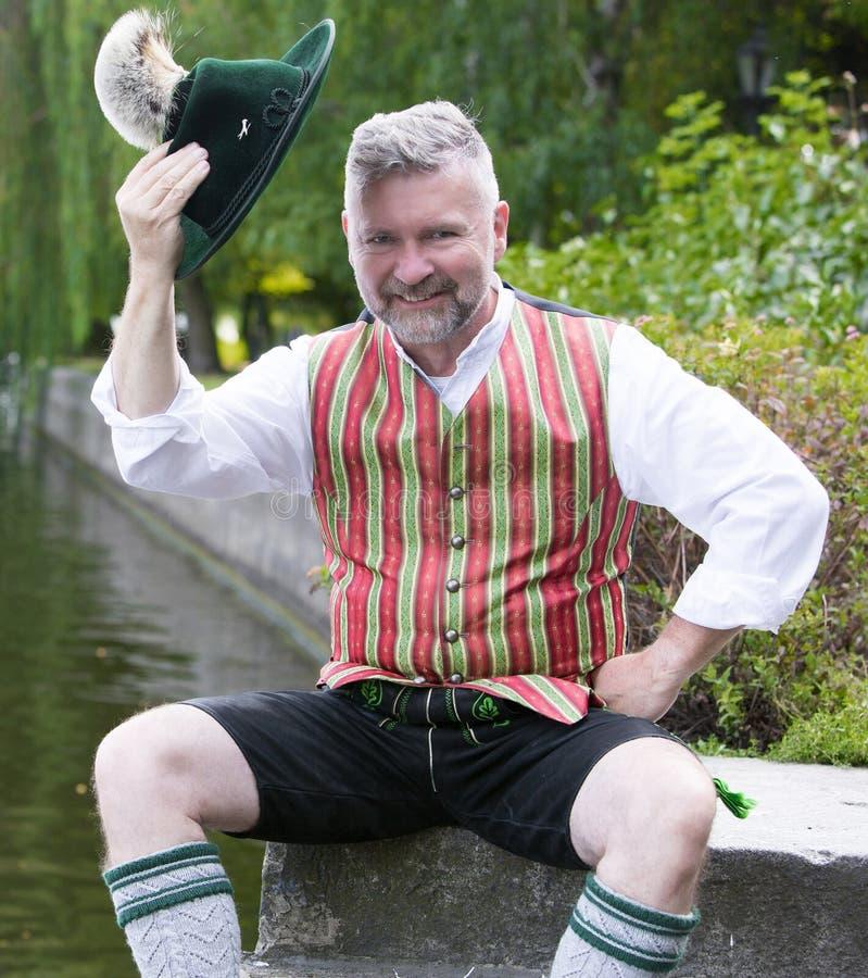 Porträt eines bayerischen Mannes stockbilder