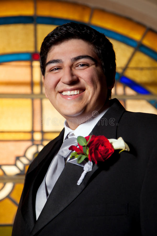 Porträt eines Bräutigams lizenzfreie stockbilder