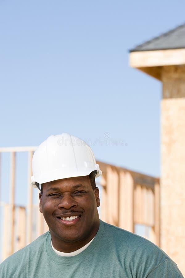 Porträt eines Erbauers lizenzfreie stockfotos