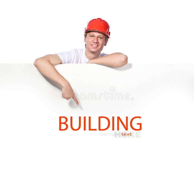 Porträt eines Erbauers stockbilder
