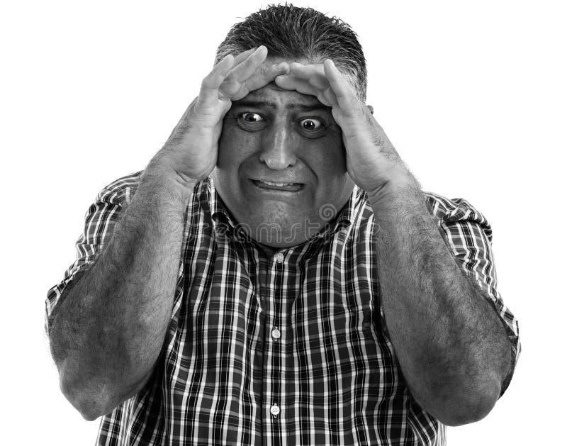 Porträt eines erschrockenen Mannes lizenzfreies stockfoto