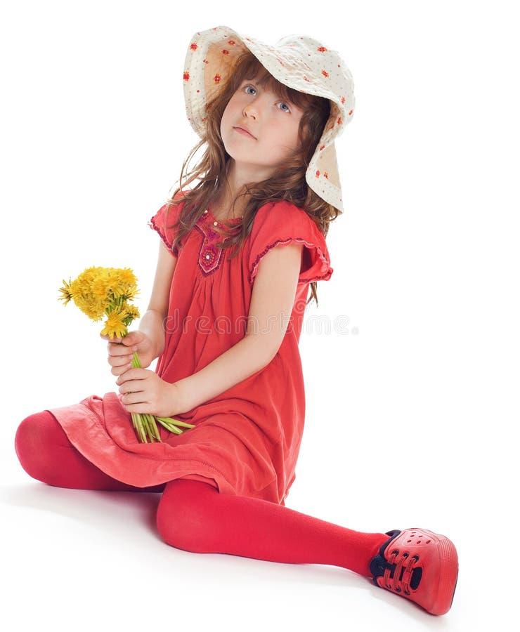 Porträt eines glücklichen kleinen Mädchens lizenzfreies stockbild