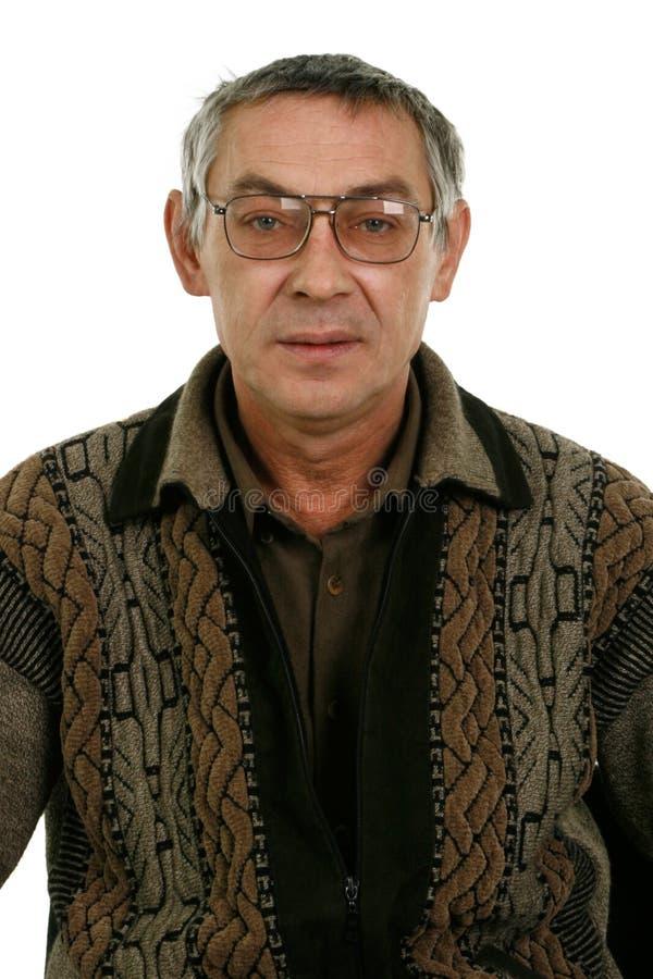Porträt eines grauhaarigen Mannes lizenzfreie stockbilder