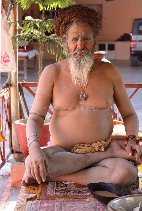 Porträt eines hindischen Mönchs lizenzfreies stockbild