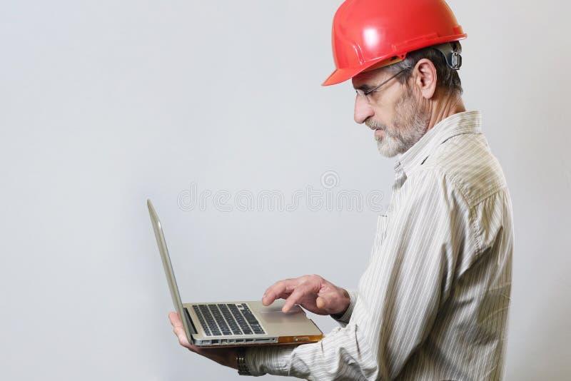 Porträt eines Ingenieurs lizenzfreies stockfoto
