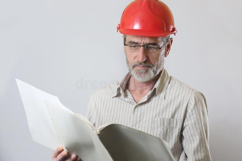 Porträt eines Ingenieurs lizenzfreie stockfotos