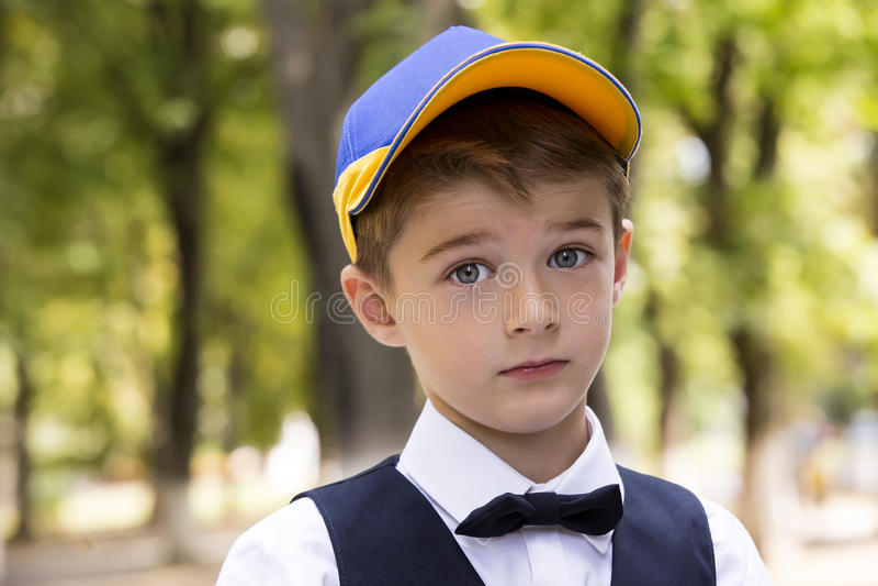 Porträt eines Jungen stockbild