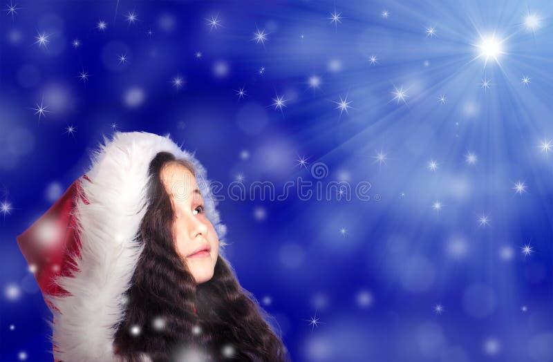 Porträt eines kleinen Mädchens stockfotos