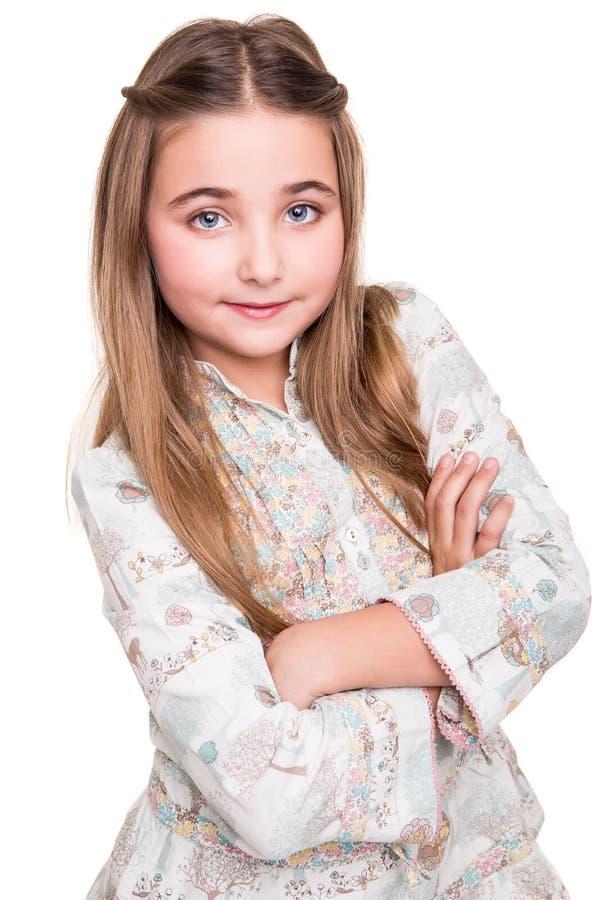 Porträt eines kleinen Mädchens lizenzfreie stockfotografie