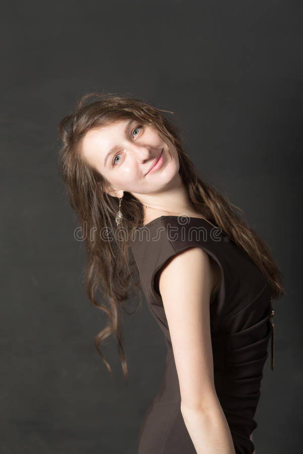 Porträt eines lächelnden Mädchens stockfoto
