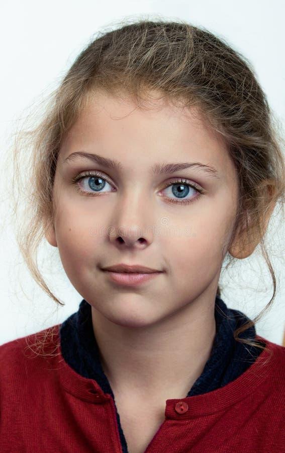Porträt eines liitle Mädchens stockfoto
