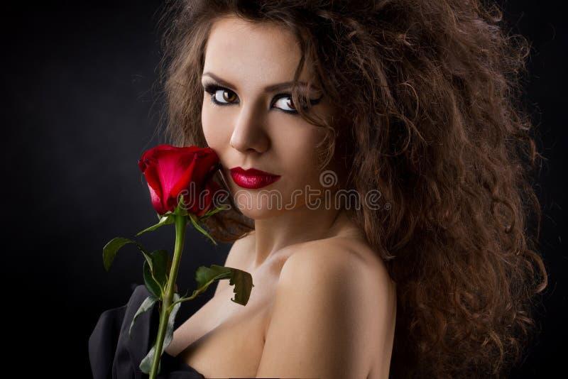 Porträt eines Mädchens mit stieg stockfotografie