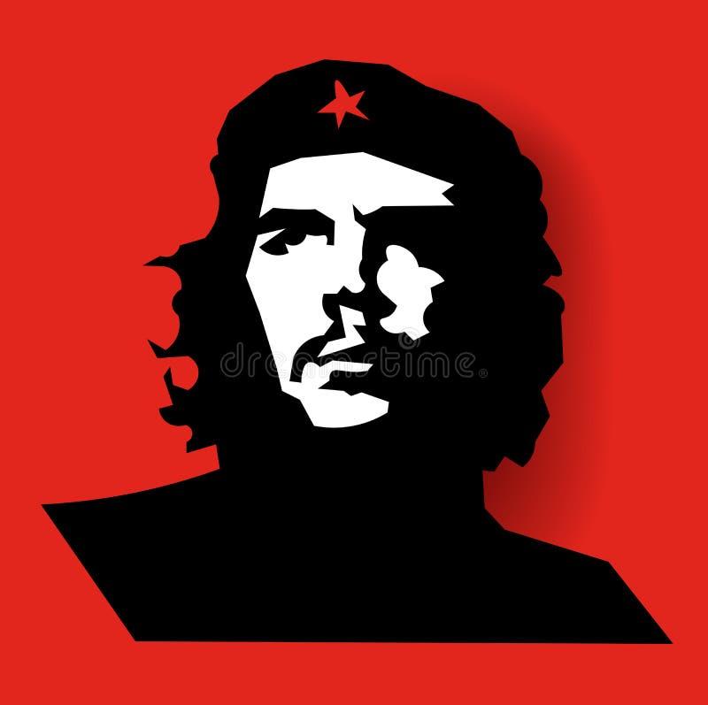 Porträt eines Mannes auf rotem Hintergrund Abstrakte Kunst vektor abbildung