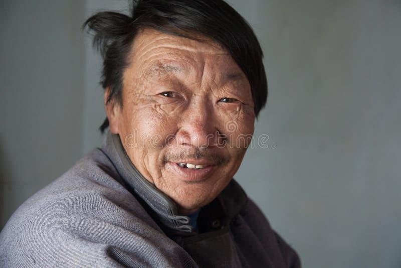 Porträt eines mongolischen Mannes stockfoto