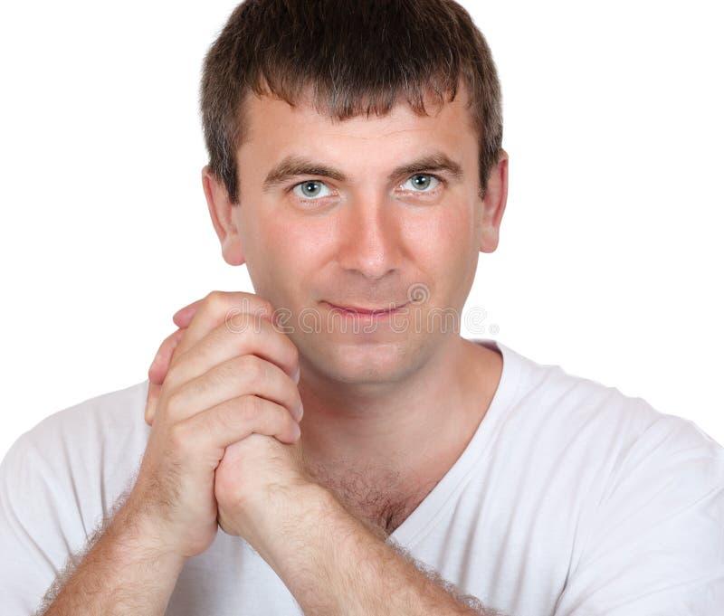 Porträt eines positiven Mannes lizenzfreies stockbild