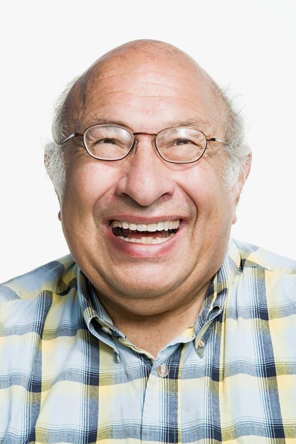 Porträt eines reifen erwachsenen Mannes lizenzfreies stockbild