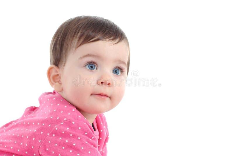 Porträt eines schönen Babys mit blauen Augen stockfotografie