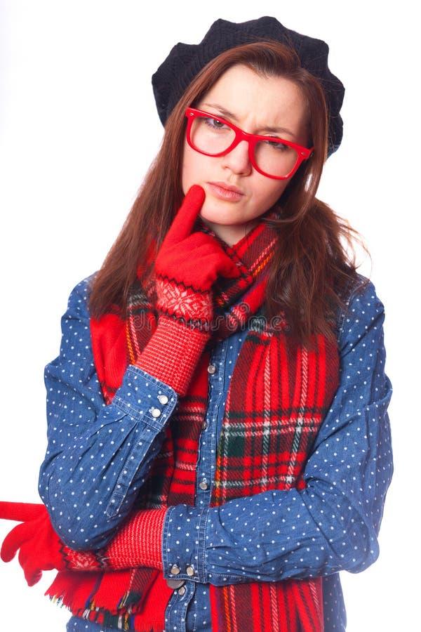Porträt eines schönen Brunettemädchens. lizenzfreies stockbild