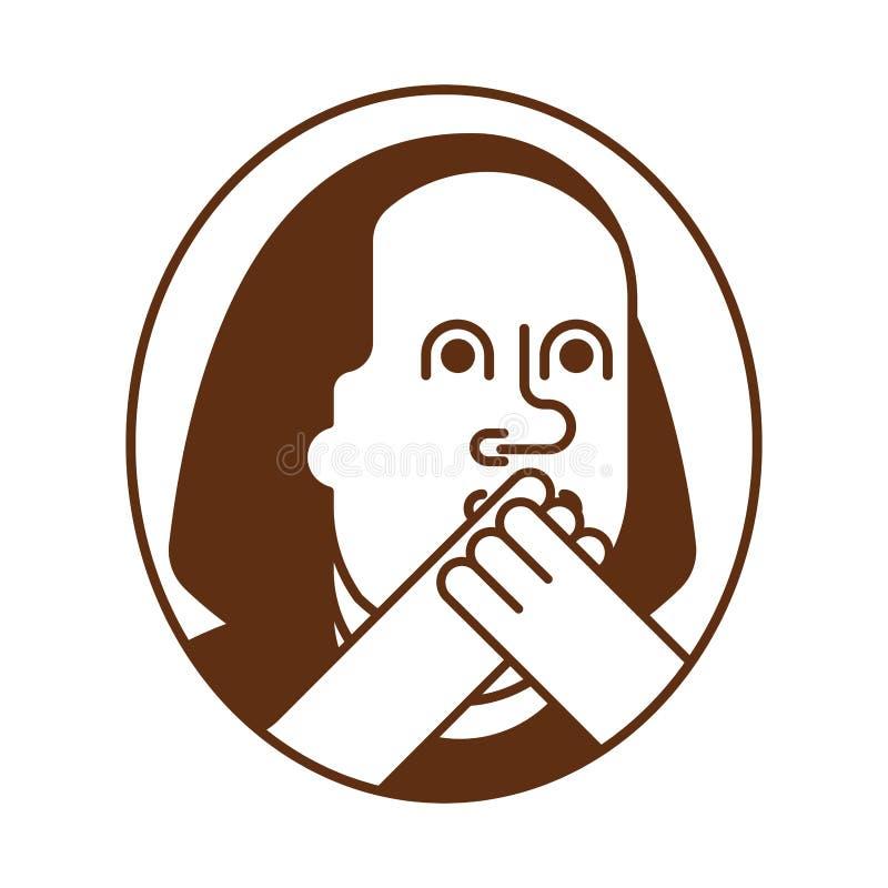 Porträt Franklin OMG Oh mein Gott Benjamin Franklin vektor abbildung