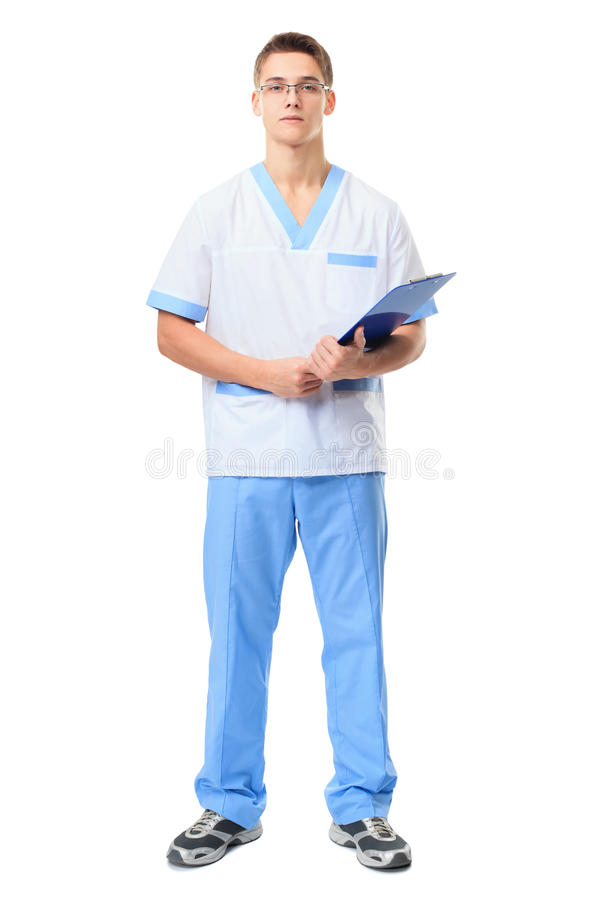 Porträt jungen Doktors lizenzfreies stockbild