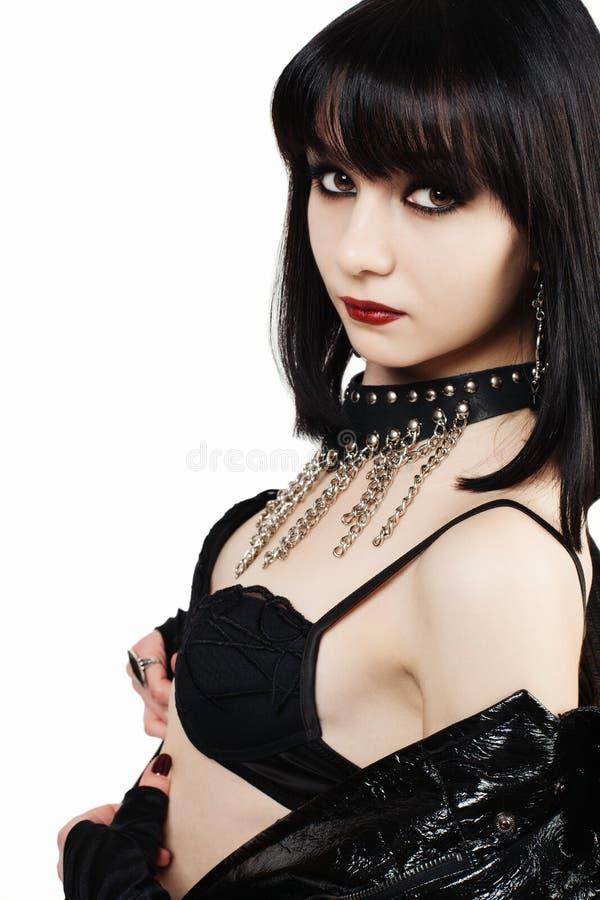 Porträt junger goth Frau stockfoto