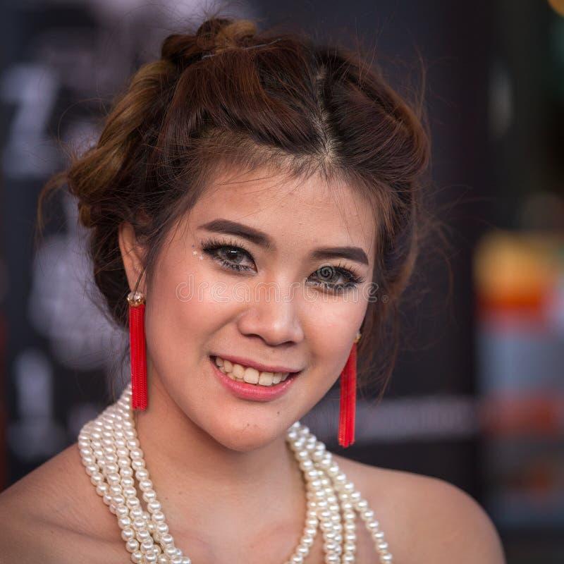 Porträt-thailändisches Mädchen Bangkok, Thailand stockfoto