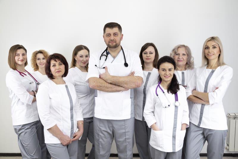 Porträt vieler Doktoren lizenzfreies stockbild