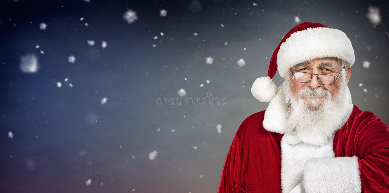 Porträt von authentischer Santa Claus stockfotografie