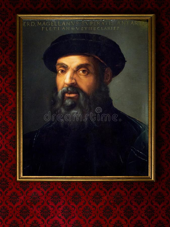Porträt von Ferdinand Magellan Anonym, XVI Jahrhundert, Öl auf Tafel stockfotos